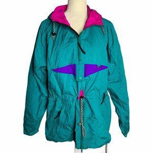 Vintage Helly Hansen Windbreaker Jacket S Teal